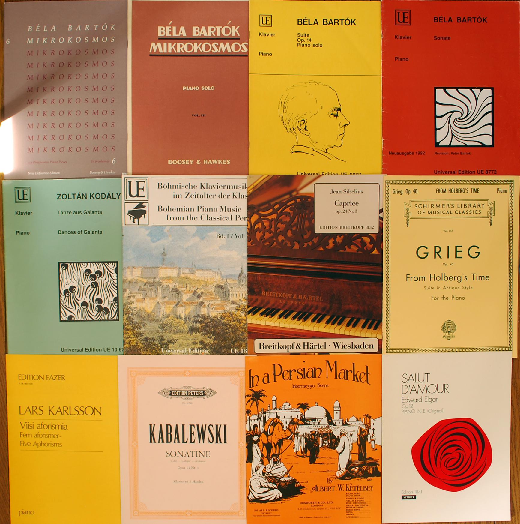 カバレフスキー、バルトーク・ベーラ、コダーイなどの楽譜スコア買取