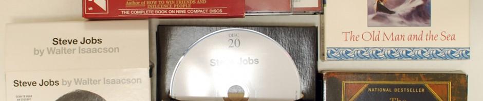 Steve Jobs(スティーブ・ジョブズ)、Dale Carnegie(デール・カーネギー)など英語オーディオブック買取