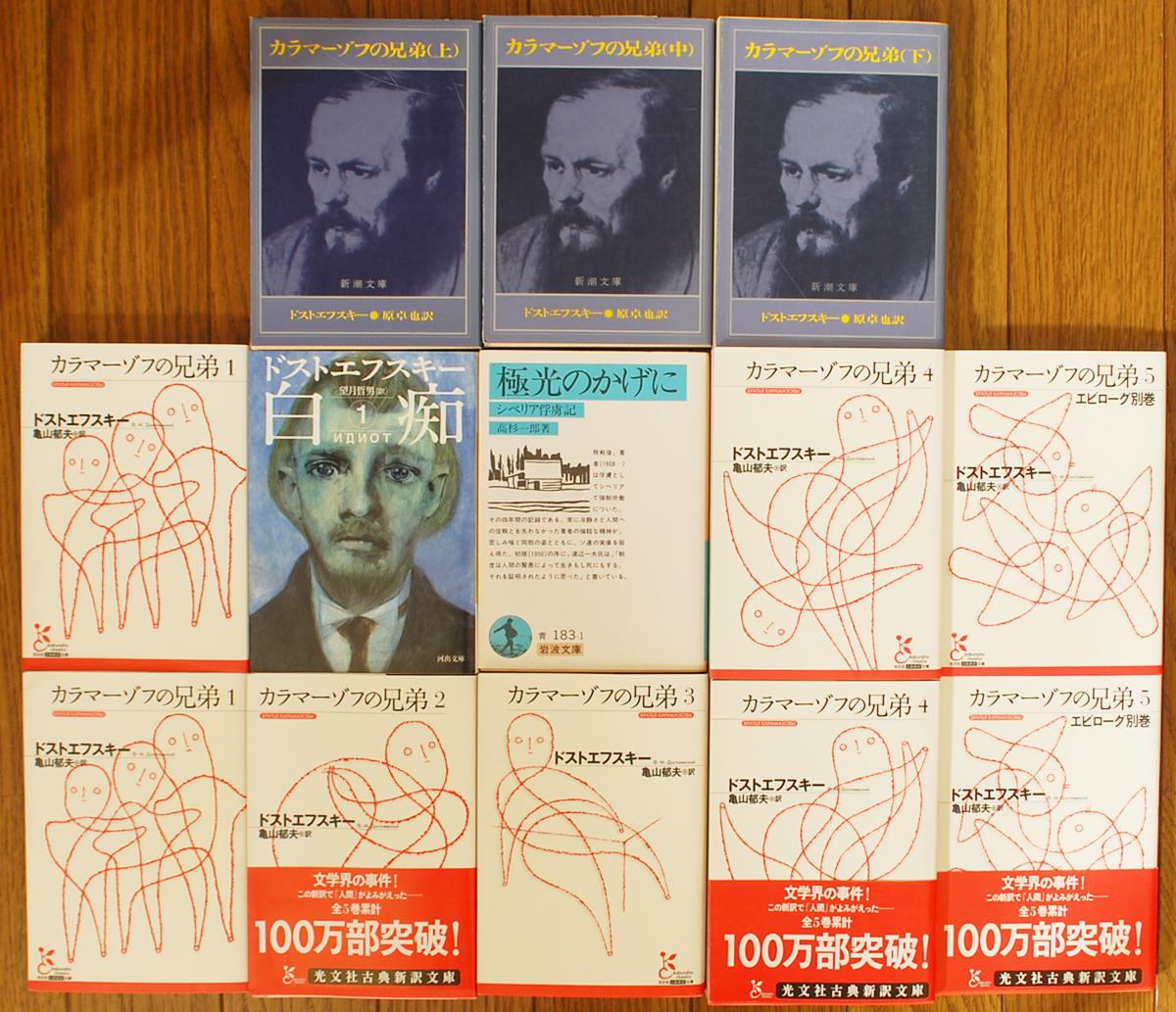 岩波文庫 極北のかげに、ドストエフスキー 白痴、カラマーゾフの兄弟など文庫買取!